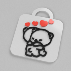 104782129_925817591179852_6208311844419146948_n.png Télécharger fichier STL Emoji bear keychain  • Plan imprimable en 3D, Motek3D