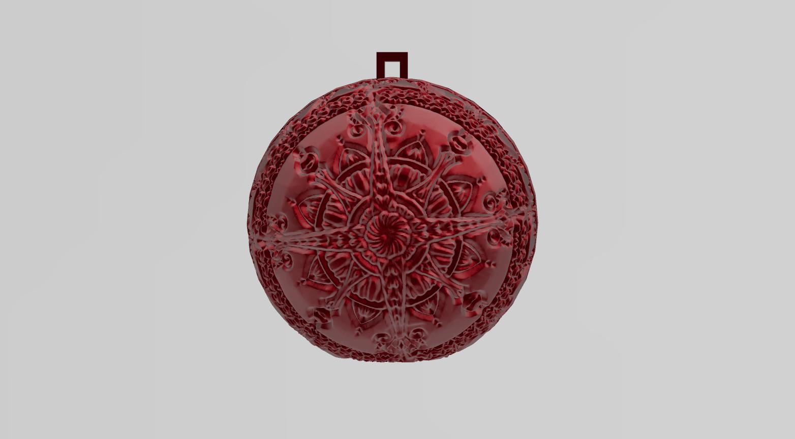 mandala sphere noel 4.png Download free STL file christmas ball 6 • 3D printable model, Motek3D
