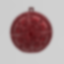 mandala sphere noel 4.stl Download free STL file christmas ball 6 • 3D printable model, Motek3D