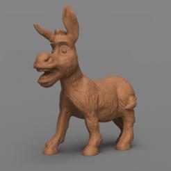 rendu 1 .png Download STL file donkey • 3D print template, motek