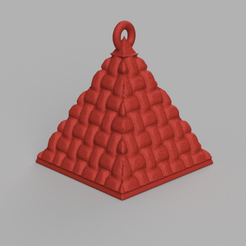 1.png Download STL file Christmas ball triangle • 3D printer template, motek