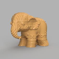 0016.png Télécharger fichier STL Elephant  • Modèle pour imprimante 3D, motek
