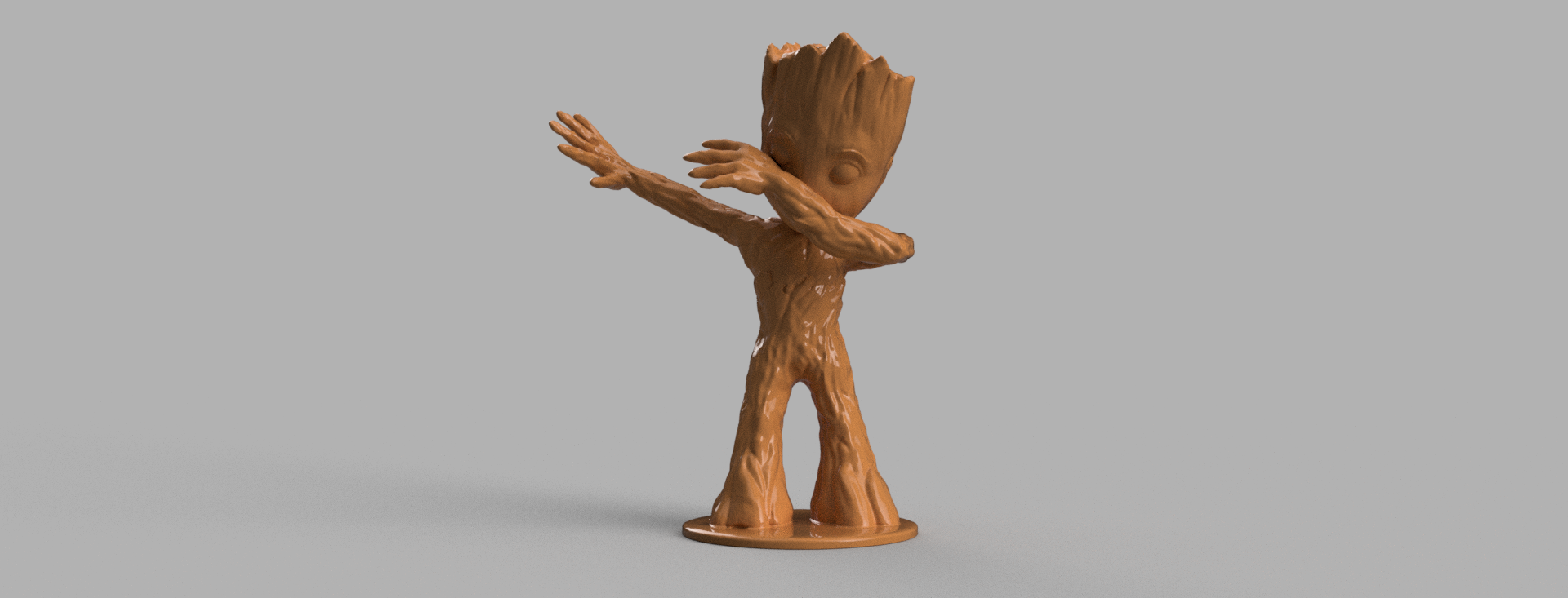 groot 1 .png Download free STL file Baby Groot Dab • 3D printing template, Motek3D