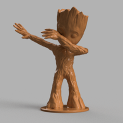groot 1 .png Download free STL file Baby Groot Dab • 3D printing template, motek
