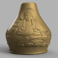 vase buddha .png Télécharger fichier STL Vase Buddha 2 • Plan pour imprimante 3D, Motek3D