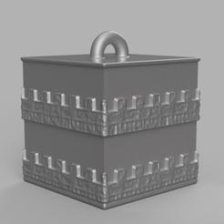 3 rendu 1 .png Download STL file Garland cube • Model to 3D print, motek