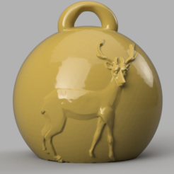 deer 13.png Download STL file Reindeer Christmas ball • 3D printer template, motek