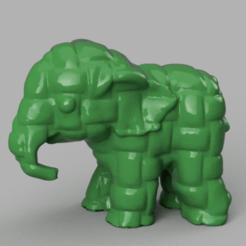 001.png Télécharger fichier STL Elephant  • Modèle pour imprimante 3D, motek