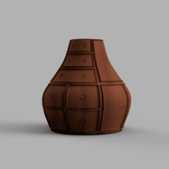 Vase meuble .png Download STL file Convenient furniture vase • 3D print model, Motek3D