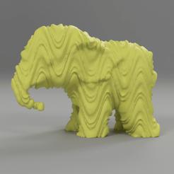 061.png Télécharger fichier STL Elephant  • Modèle pour imprimante 3D, motek