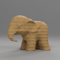 0053.png Télécharger fichier STL gratuit Elephant  • Modèle pour imprimante 3D, motek