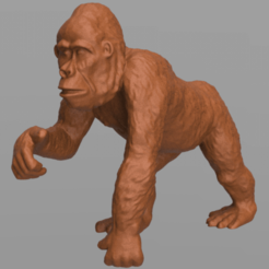 gorille 5 .png Download STL file Gorilla • Template to 3D print, motek