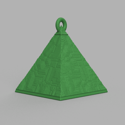 9.png Download free STL file Christmas ball triangle • 3D printer template, motek