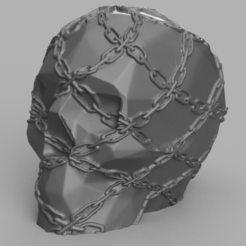 skull chaine rendu 1 .png Download STL file Skull chain X2 • 3D print model, Motek3D