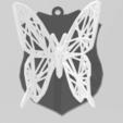 Objet 3D butterfly voronoi, Motek3D