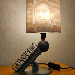 Download STL files Serge Gainsbourg lamp, Motek3D