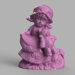 fille ourson rendu 1 .png Download STL file teddy bear girl • 3D printing model, motek