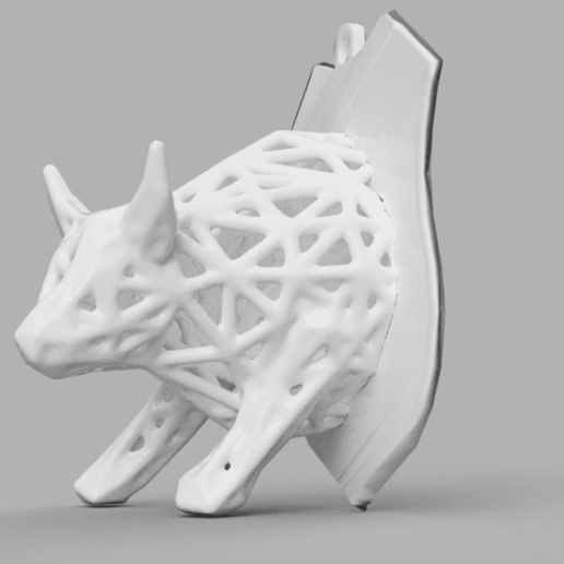 taureau 1 .png Download STL file Voronoi Bull • Object to 3D print, motek