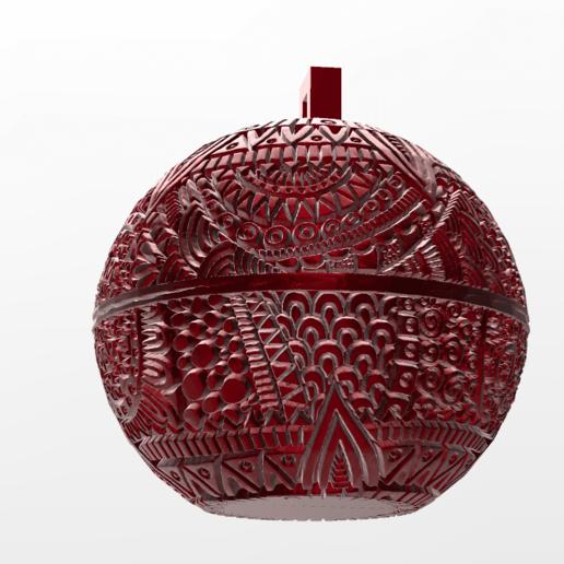 mandala sphere noel 1.png Download free STL file christmas ball 5 • 3D printing model, Motek3D