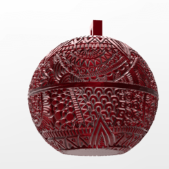 Download free 3D printer files christmas ball 5, Motek3D