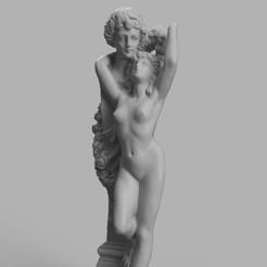 statue pierre femme 22.png Descargar archivo STL Estatua antigua • Modelo para la impresión en 3D, Motek3D