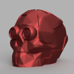 skull square yeu pres 1 .png Download STL file skull square • Model to 3D print, Motek3D