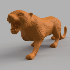 guepard rendu 3 .png Download STL file Guepard • 3D printing template, motek