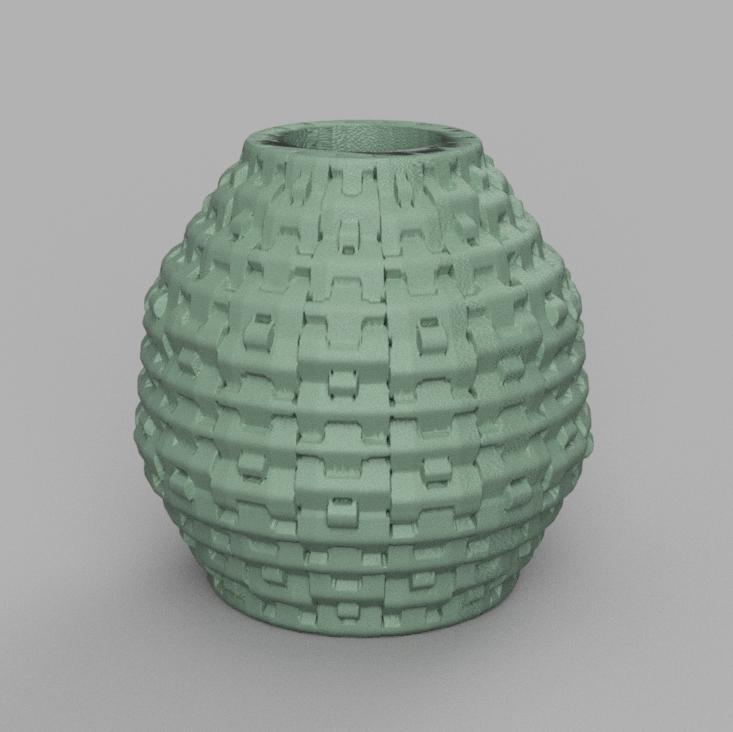 30 rendu 2 .png Télécharger fichier STL X86 Mini vase collection  • Objet imprimable en 3D, motek