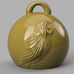hiboux 1 .png Download STL file Christmas ball owls • 3D print template, motek