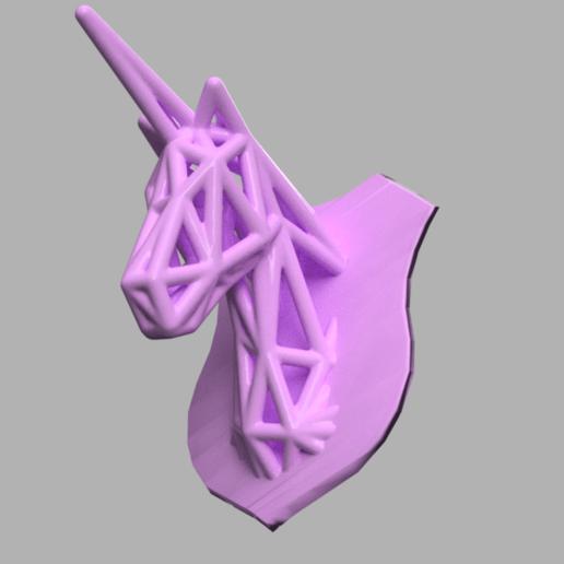 licorne 2 .png Télécharger fichier STL Licorne voronoi  • Plan pour impression 3D, Motek3D