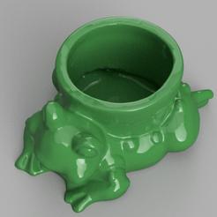 pot grenouille rendu 3.png Télécharger fichier STL pot grenouille • Plan pour imprimante 3D, motek