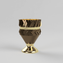 Download free 3D printing files gold cup, Motek3D