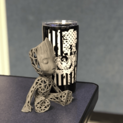 Descargar STL gratis Groot voronoi, Motek3D