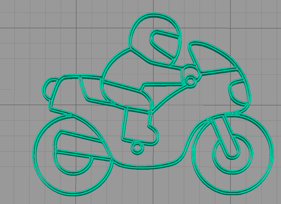 moto slicer.png Download STL file Motorcycle keychain • 3D printable template, motek
