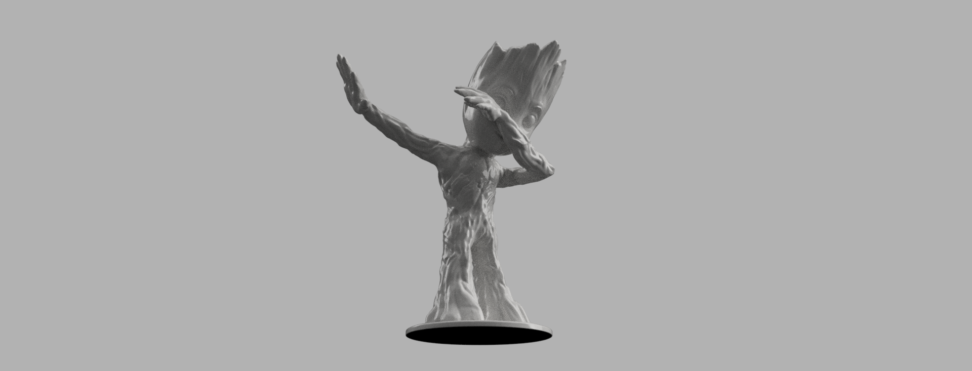 groot 2.png Download free STL file Baby Groot Dab • 3D printing template, Motek3D