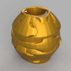 25 rendu 1.png Télécharger fichier STL Vase 25 • Design imprimable en 3D, Motek3D