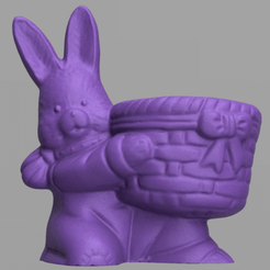 lapin 5.png Download STL file Rabbit egg pot • 3D printer design, motek