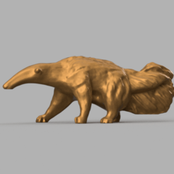 fourmilier tamanoir rendu 1 .png Download STL file Anteater Anteater • 3D printing template, Motek3D