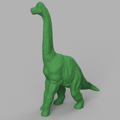dinosaure au long coup 2 rendu 1 .png Download STL file dinosaur long shot 2 • 3D printable template, Motek3D