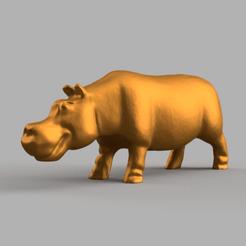hipo pres 3 .png Télécharger fichier STL hippopotame • Design imprimable en 3D, motek