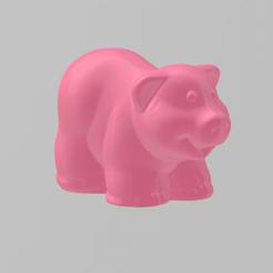 cochon pres.png Download free STL file pig • 3D print model, Motek3D