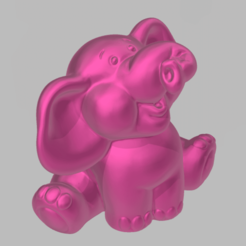 mini elephant 1.png Download free STL file mini elephant • 3D print template, motek