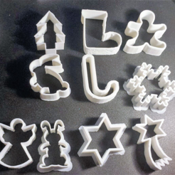 STL Christmas cookies cutter, Motek3D
