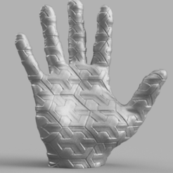 main croisillon fusio.png Download STL file Cross-braced hand • Object to 3D print, Motek3D