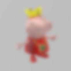 peppa pig rois  .stl Télécharger fichier STL gratuit peppa pig roi • Modèle pour impression 3D, Motek3D
