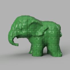 049.png Télécharger fichier STL Elephant  • Modèle pour imprimante 3D, motek