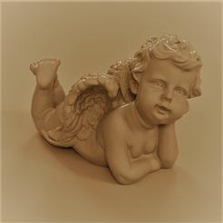 ange allongé 5 5.png Télécharger fichier STL Ange allongé christmas • Modèle imprimable en 3D, Motek3D