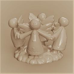 4 anges rendu 1 1.png Télécharger fichier STL 4 anges • Modèle imprimable en 3D, Motek3D