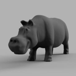hipo pres 1 .png Download STL file hippopotamus • 3D printer model, motek