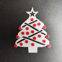 Download free 3D printing templates Christmas tree ornament, Motek3D
